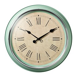 SKOVEL wall clock, green Diameter: 59 cm