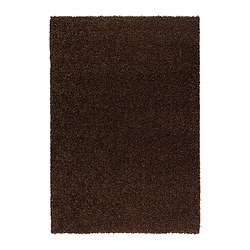 "ALHEDE rug, high pile, brown Length: 6 ' 5 "" Width: 4 ' 4 "" Area: 27.88 sq feet Length: 195 cm Width: 133 cm Area: 2.59 m²"