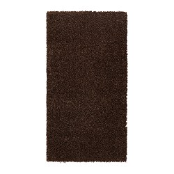 "ALHEDE rug, high pile, brown Length: 4 ' 11 "" Width: 2 ' 7 "" Area: 12.92 sq feet Length: 150 cm Width: 80 cm Area: 1.20 m²"