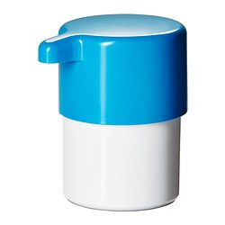 LOSJÖN soap dispenser, white/blue Height: 125 mm Volume: 300 ml