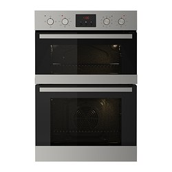 VALFRI double oven with forced air, stainless steel Width: 59.4 cm Depth: 54.8 cm Height: 88.8 cm