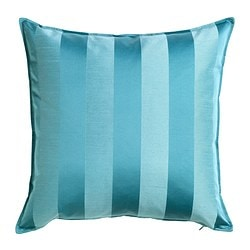 HENRIKA cushion cover, turquoise Length: 50 cm Width: 50 cm