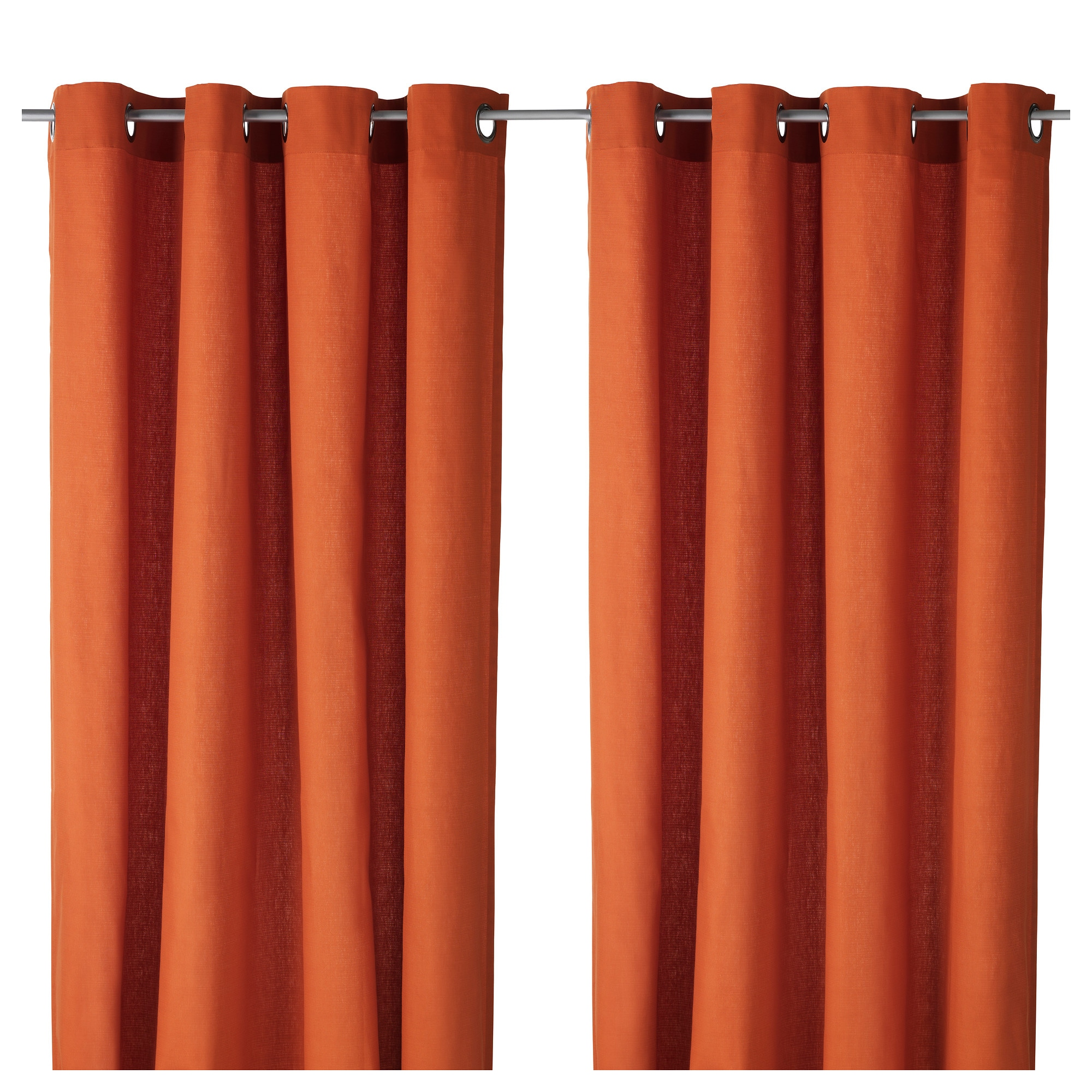 Orange color block curtains - Mariam Curtains 1 Pair Orange Length 98 Width 57 Weight