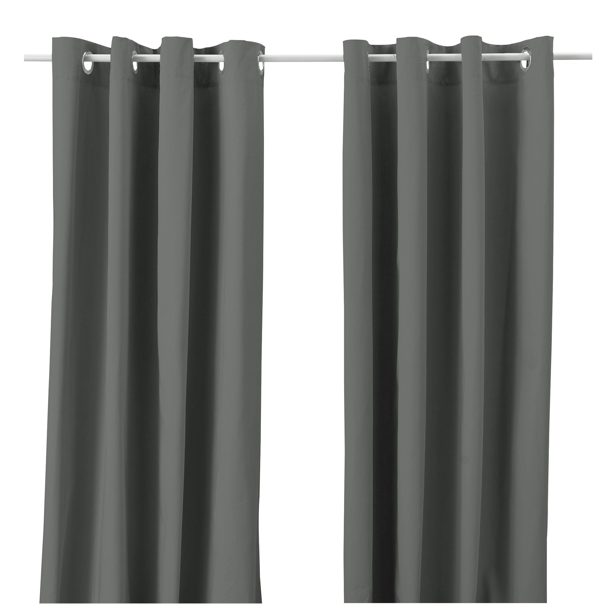 Grey curtains living room - Merete Curtains 1 Pair Gray Length 98 Width 57 Weight