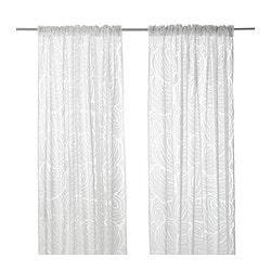 NORDIS sheer curtains, 1 pair, white