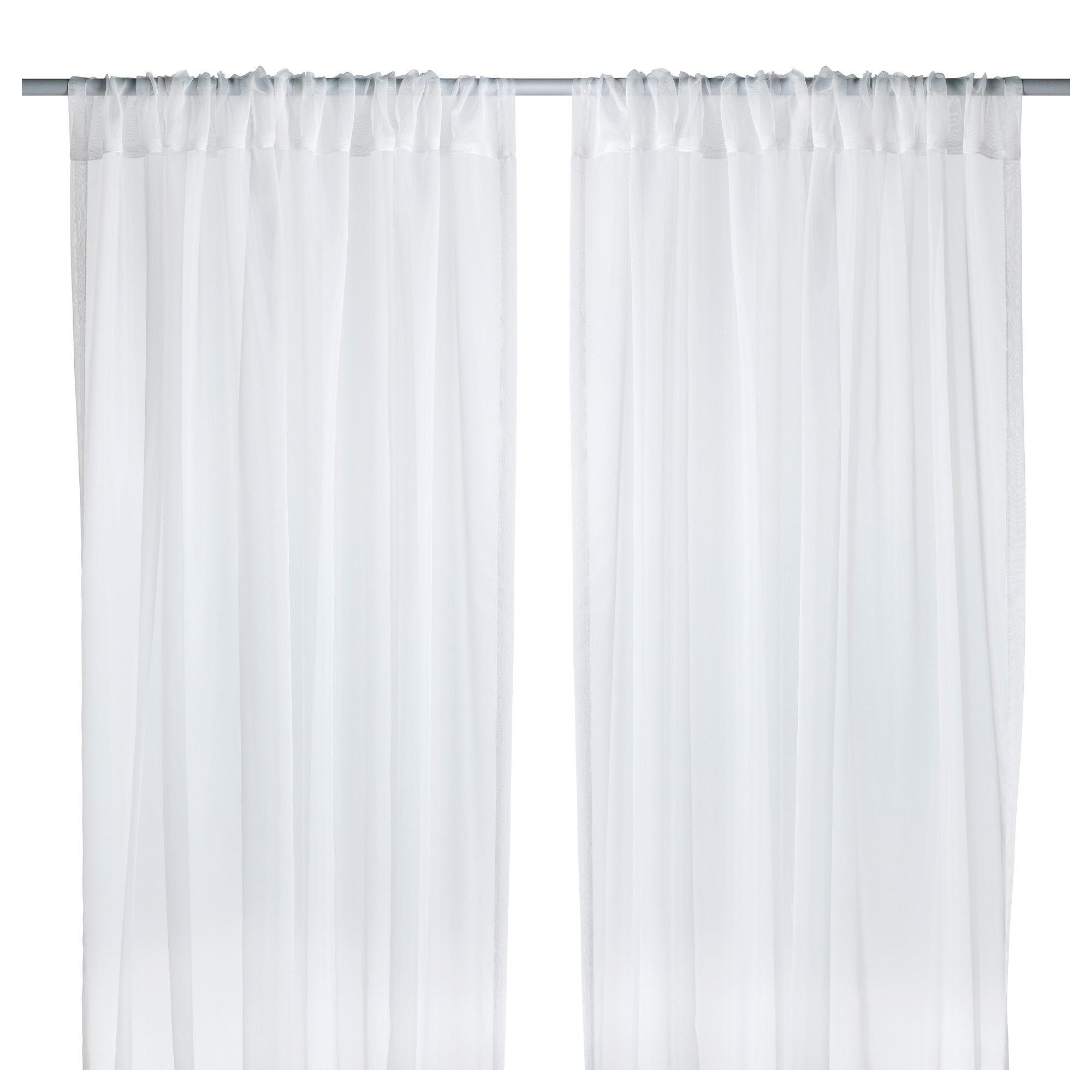 Black and white curtains bedroom - Teresia Sheer Curtains 1 Pair White Length 98 Width 57