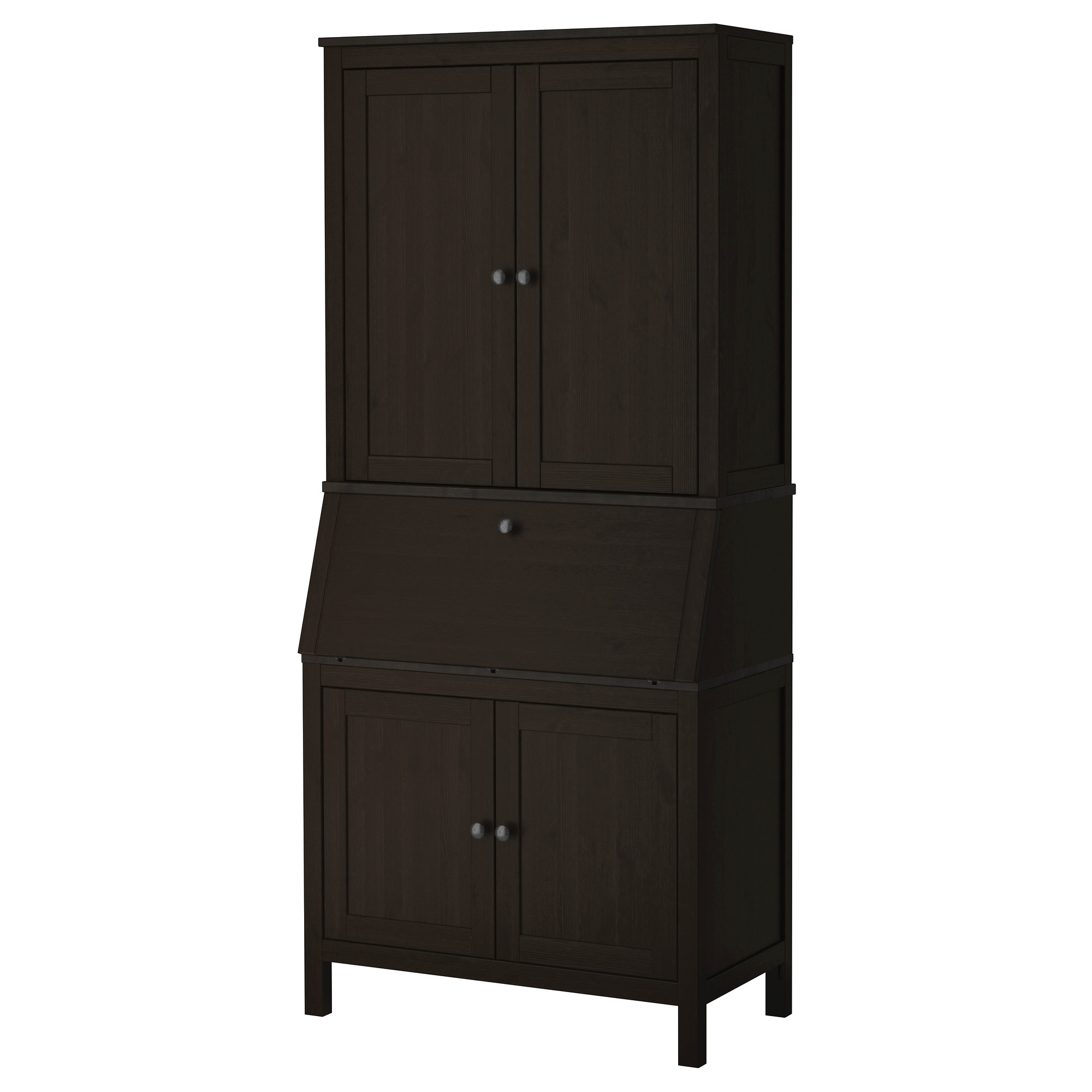 hemnes secretary with add on unit black brown width 35 black glass office desk 1