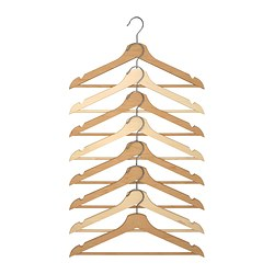 BUMERANG hanger, natural Width: 43 cm Thickness: 14 mm Package quantity: 8 pack