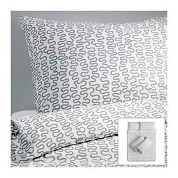 KRÅKRIS quilt cover and 4 pillowcases Quilt cover length: 200 cm Quilt cover width: 200 cm Pillowcase length: 50 cm