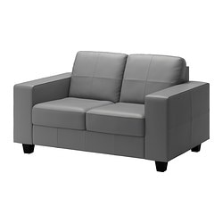 SKOGABY two-seat sofa, Bomstad medium grey grey, Glose Robust Width: 148 cm Depth: 85 cm Seat depth: 56 cm