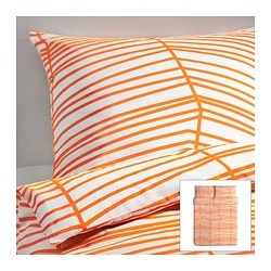 "ÖDESTRÄD duvet cover and pillowcase(s) Duvet cover length: 86 "" Duvet cover width: 86 "" Pillowcase length: 20 "" Duvet cover length: 218 cm Duvet cover width: 218 cm Pillowcase length: 51 cm"