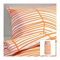 "ÖDESTRÄD duvet cover and pillowcase(s) Duvet cover length: 86 "" Duvet cover width: 64 "" Pillowcase length: 20 "" Duvet cover length: 218 cm Duvet cover width: 162 cm Pillowcase length: 51 cm"