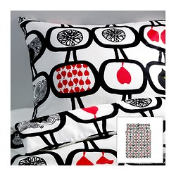 "ÄNGSSKÄRA duvet cover and pillowcase(s) Duvet cover length: 86 "" Duvet cover width: 86 "" Pillowcase length: 20 "" Duvet cover length: 218 cm Duvet cover width: 218 cm Pillowcase length: 51 cm"