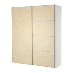 PAX wardrobe with sliding doors Width: 200.0 cm Depth: 43.5 cm Height: 236.4 cm