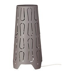 KAJUTA table lamp, grey Diameter: 15 cm Height: 30 cm Cord length: 140 cm