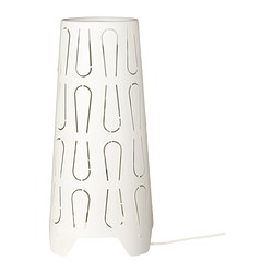 KAJUTA table lamp, white Diameter: 15 cm Height: 30 cm Cord length: 140 cm