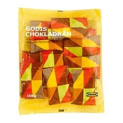 GODIS CHOKLADRÅN chocolate filled wafers Net weight: 168 g