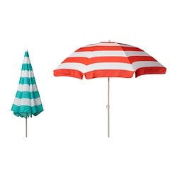 RAMSÖ parasol, assorted colours, adjustable Diameter: 180 cm Pole diameter: 22 mm Min. height: 143 cm