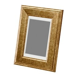 VIRSERUM frame, gold-colour Picture without mount, width: 10 cm Picture without mount, height: 15 cm Picture with mount, width: 8 cm
