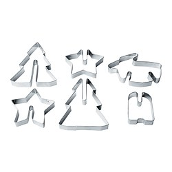 VINTER 2015 pastry cutter, set of 6, stainless steel
