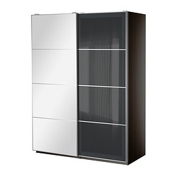 PAX wardrobe with sliding doors Width: 150.0 cm Depth: 43.5 cm Height: 201.2 cm