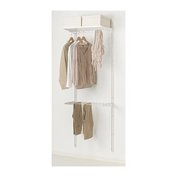 ALGOT Wall upright/shelves/pants hanger