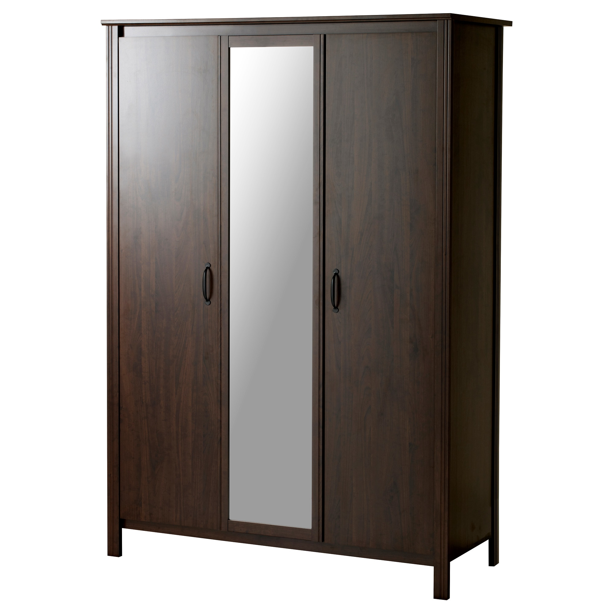BRUSALI wardrobe with 3 doors  brown Width  51 5 8   Depth. Wardrobes  Armoires   Closets   IKEA