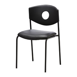"STOLJAN conference chair, black, black Width: 17 3/4 "" Depth: 20 1/8 "" Height: 31 7/8 "" Width: 45 cm Depth: 51 cm Height: 81 cm"