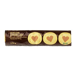 KAKOR CHOKLAD biscuit with chocolate filling Net weight: 176 g