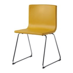 BERNHARD chair, Kavat dark yellow, chrome-plated Tested for: 110 kg Width: 49 cm Depth: 50 cm
