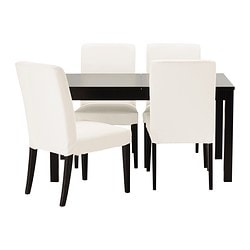 "BJURSTA/ HENRIKSDAL table and 4 chairs Length: 55 1/8 "" Length: 140 cm"