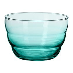 "SKOJA serving bowl, turquoise Diameter: 4 ¾ "" Height: 3 ¼ "" Diameter: 12 cm Height: 8 cm"