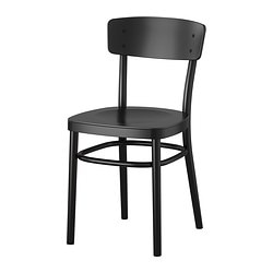 IDOLF chair, black Tested for: 110 kg Width: 42 cm Depth: 47 cm