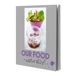 "STABIL - OUR FOOD - NATURALLY! book Width: 9 ¾ "" Height: 11 ¼ "" Width: 24.5 cm Height: 28.5 cm"
