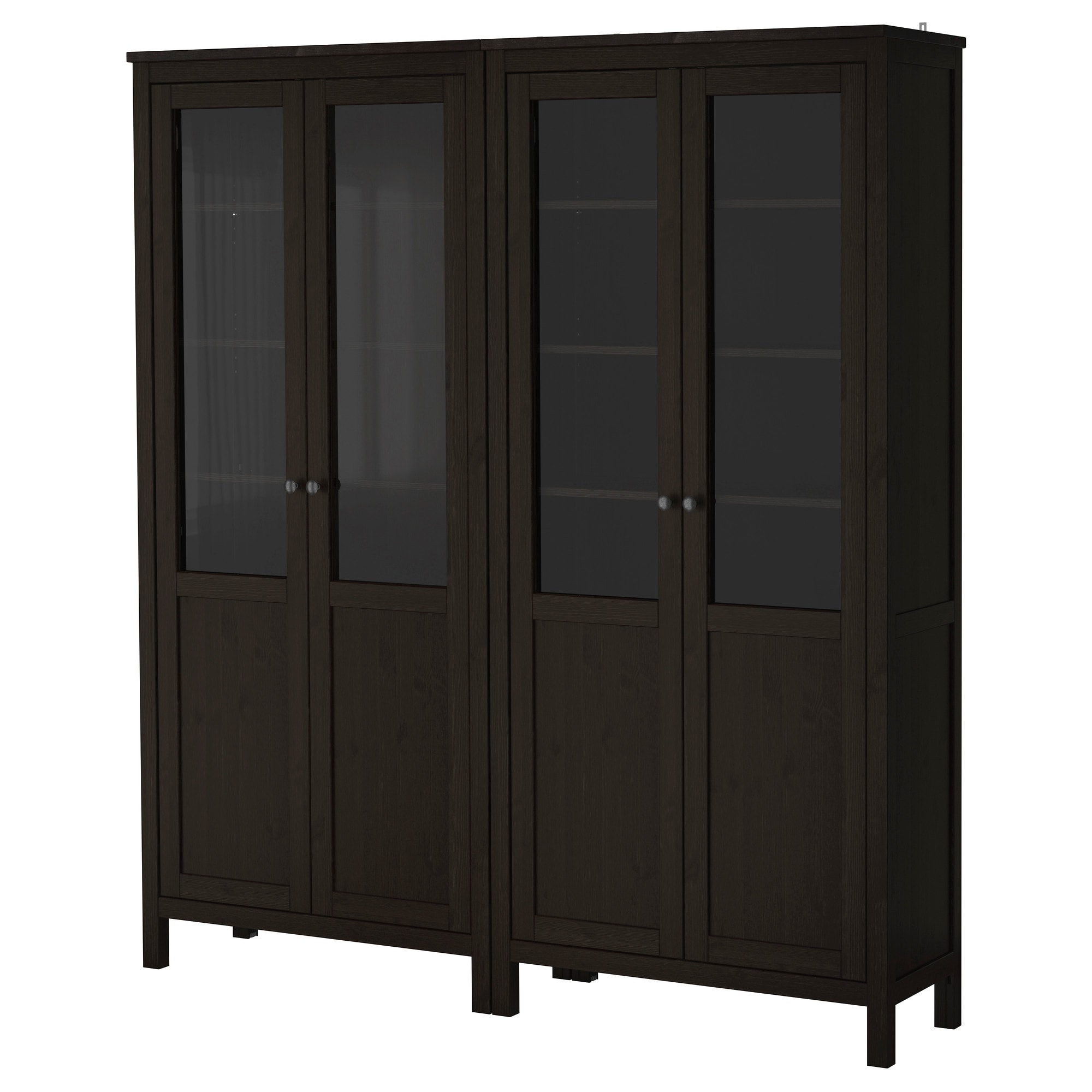 HEMNES Storage Combination W/glass Doors   Black Brown   IKEA