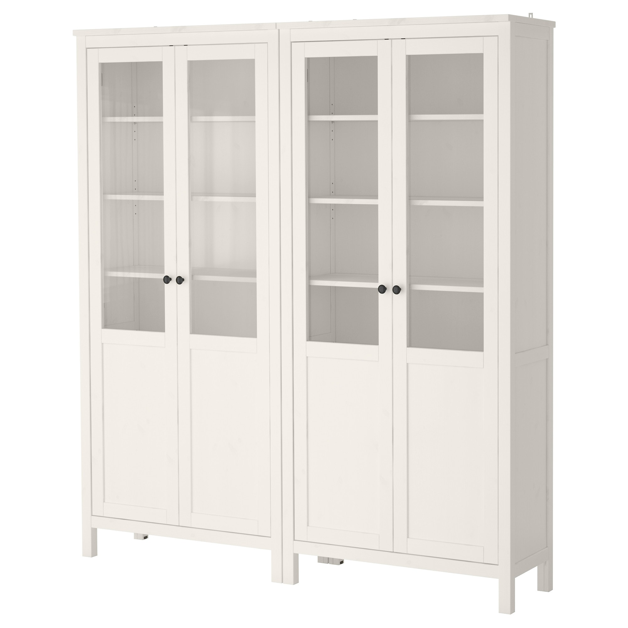 HEMNES Storage Combination W/glass Doors   White Stain   IKEA