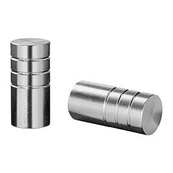 RULL knob, aluminium Depth: 25 mm Diameter: 12 mm Drilled hole diameter: 5 mm