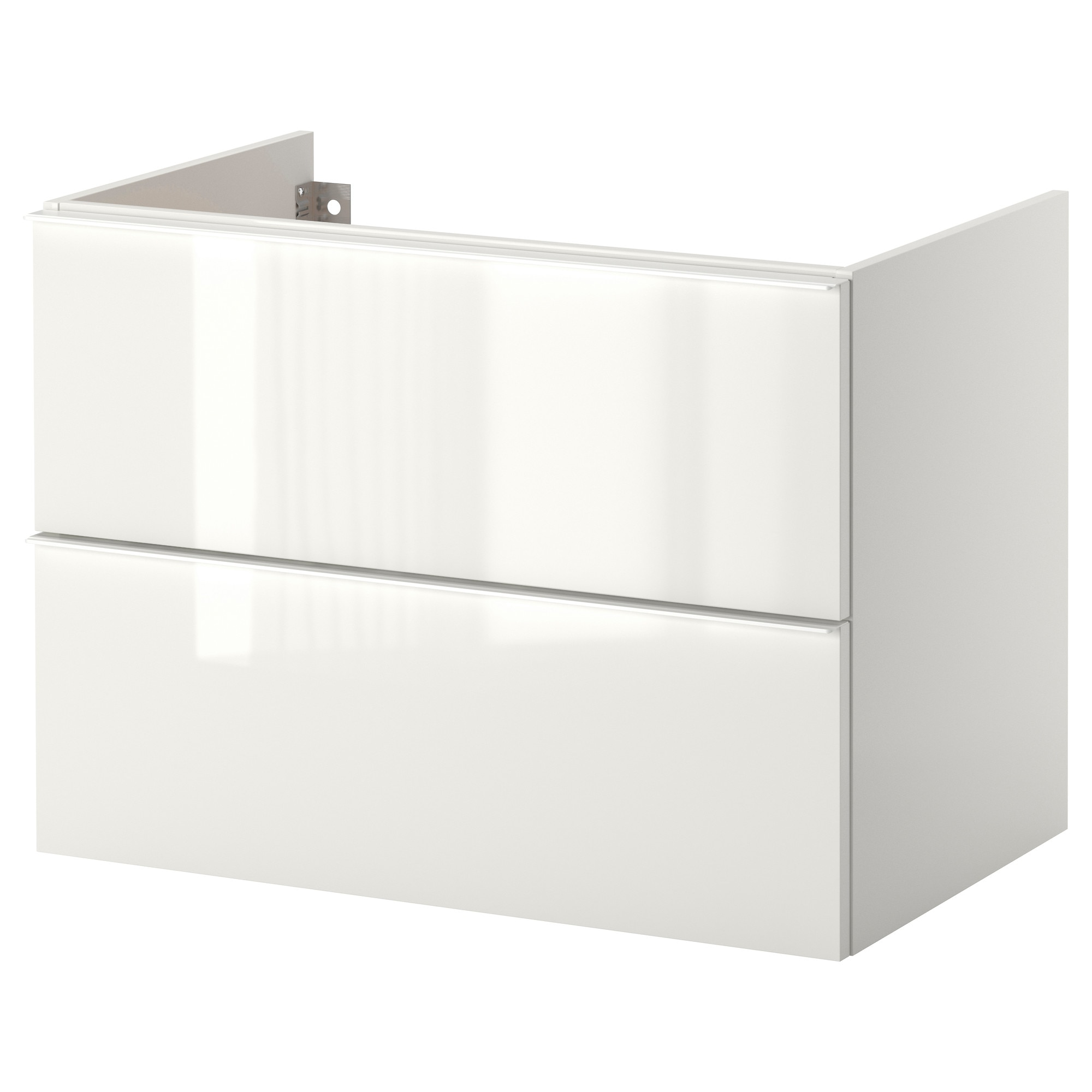 Ikea Bad Unterschrank godmorgon wash stand with 2 drawers high gloss white 80x47x58