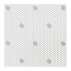 SUNRID fabric, white Weigth.: 48 g/m² Width: 150 cm Pattern repeat: 5 cm