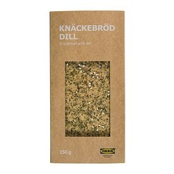KNÄCKEBRÖD DILL crispbread with dill Net weight: 5 oz Net weight: 150 g