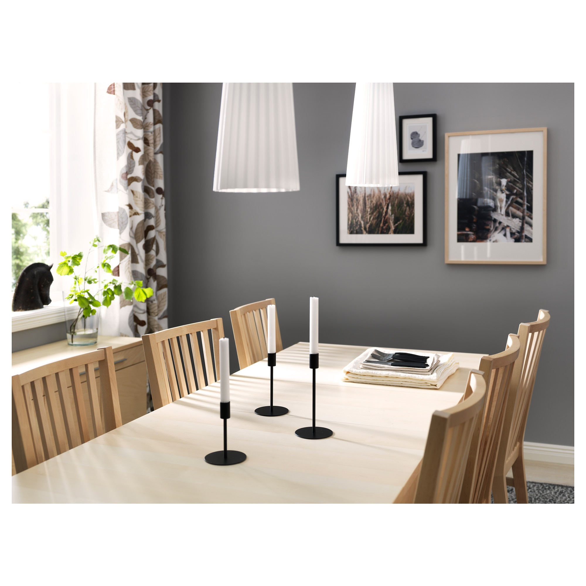 Black Extendable Dining Table bjursta extendable table - brown-black - ikea