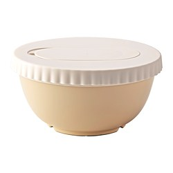 ALLEHANDA mixing bowl with lid, beige Diameter: 23 cm Height: 11.5 cm Volume: 2 l