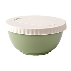 ALLEHANDA mixing bowl with lid, green Diameter: 23 cm Height: 11.5 cm Volume: 2 l