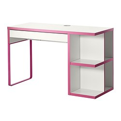MICKE desk with integrated storage Width: 120 cm Depth: 50 cm Height: 75 cm