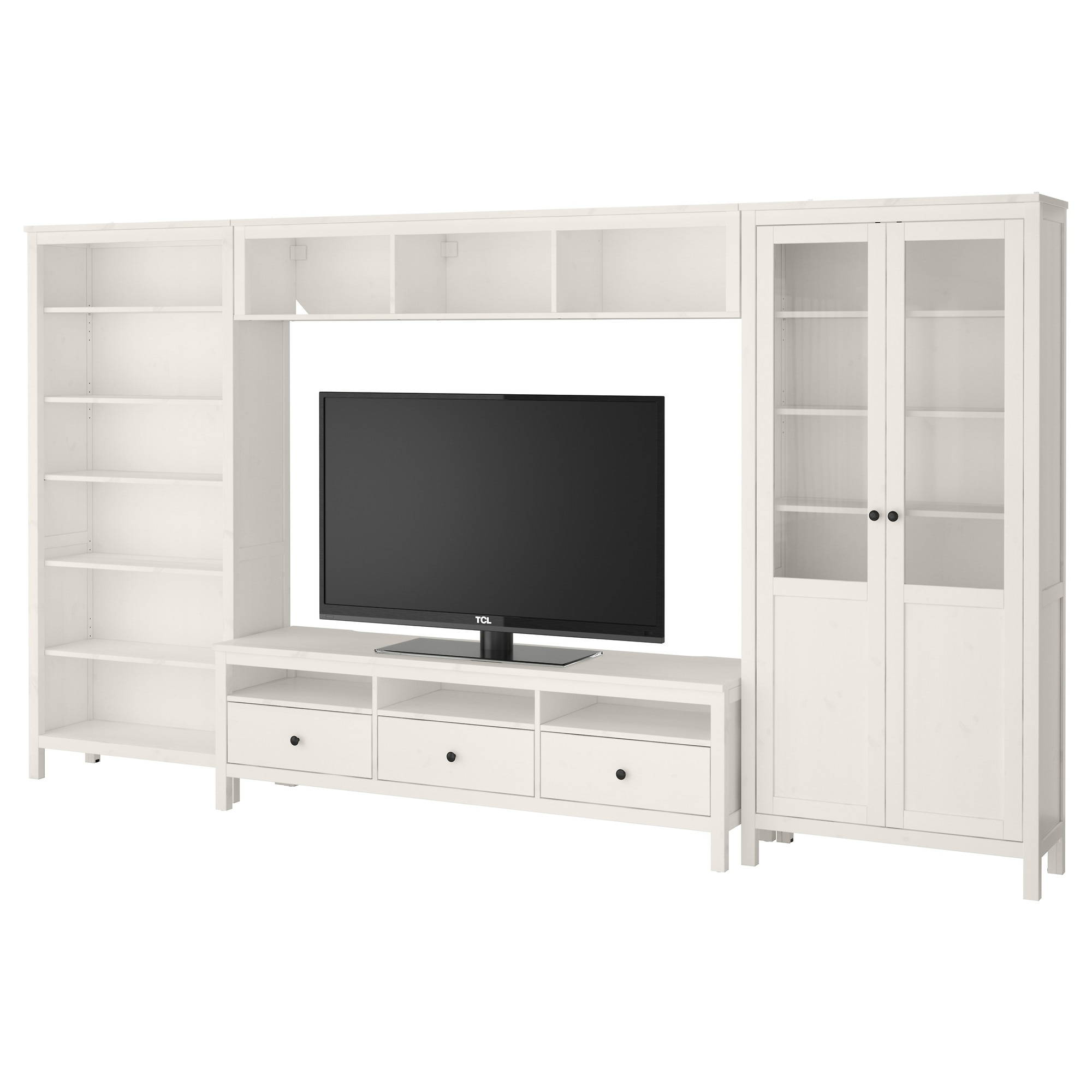 Screen tv stands ikea hemnes ikea hemnes tv storage combination white paint - Ensemble mural tv ikea ...
