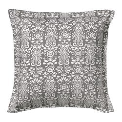 ÅKERKULLA cushion cover, gray/white