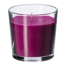 SINNLIG scented candle in glass, lilac, Full blossom Height: 7.5 cm Burning time: 25 hr