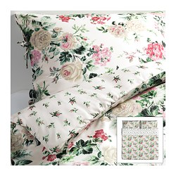 "EMMIE BLOM duvet cover and pillowcase(s), multicolor Duvet cover length: 86 "" Duvet cover width: 102 "" Pillowcase length: 20 "" Duvet cover length: 218 cm Duvet cover width: 259 cm Pillowcase length: 51 cm"