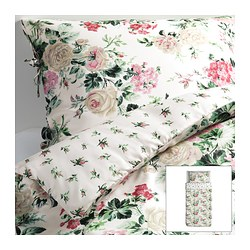 "EMMIE BLOM duvet cover and pillowcase(s), multicolor Duvet cover length: 86 "" Duvet cover width: 64 "" Pillowcase length: 20 "" Duvet cover length: 218 cm Duvet cover width: 162 cm Pillowcase length: 51 cm"