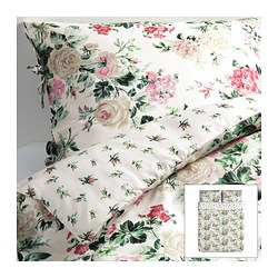 EMMIE BLOM quilt cover and 2 pillowcases, multicolour Quilt cover length: 230 cm Quilt cover width: 200 cm Pillowcase length: 50 cm
